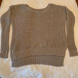 Tan Knit Aerie Sweater